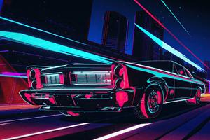 Pontiac Gto Cyberpunk Night 4k