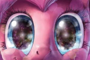Pony Glowing Eyes 4k