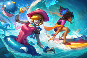 Pool Party Orianna And Taliyah League Of Legends Wallpaper