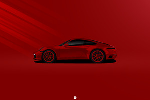 Porsche 911 Carrera 4s Illustration 5k Wallpaper