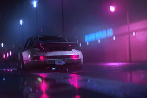 Porsche 911 Carrera RSR Neonwave Wallpaper