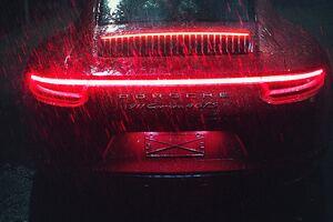 Porsche 911 Carrera Tail Light Raining