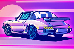 Porsche 911 Classic Illustration Wallpaper