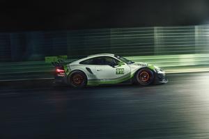 Porsche 911 GT3 R 2018 Side View