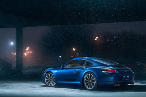 Porsche 911 In Snow Wallpaper