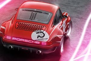 Porsche 911 Rear 4k Art