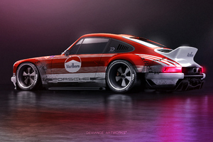 Porsche 911 Rear Art 4k Wallpaper