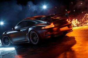 Porsche 911 Sport Car Rear