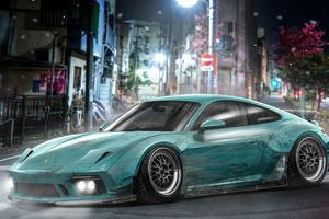 Porsche 911 Tokyo 4k Wallpaper