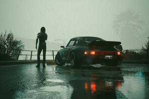 Porsche 911 Turbo Cyberpunk 2077 Johnny Silverhands 5k