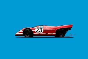 Porsche 917k Vector Art