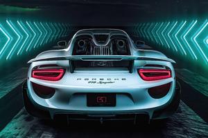 Porsche 918 Spyder 8k Wallpaper