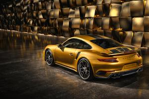 Porsche 991 II Turbo Rear Wallpaper