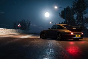 Porsche At Night