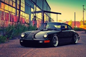 Porsche Black Wallpaper
