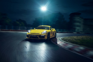 Porsche Cayman GT4 Yellow Wallpaper