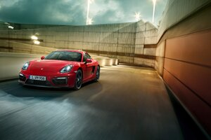 Porsche Cayman GTS Red Wallpaper