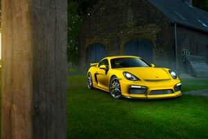 Porsche Cayman In Nature Wallpaper