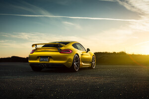 Porsche Cayman Rear Wallpaper