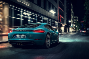 Porsche Cayman S Rear Wallpaper