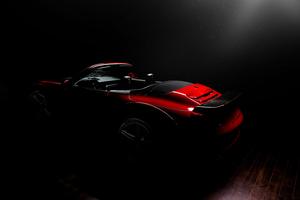 Porsche Dark Background 5k