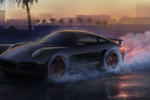 Porsche Drifting Wallpaper