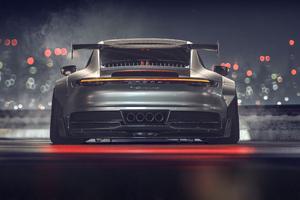 Porsche GT3 911 GT 4k Rear Wallpaper