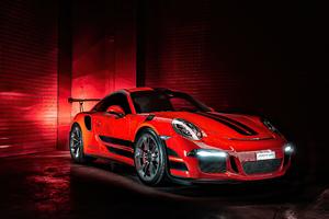 Porsche GT3RS Red 4k