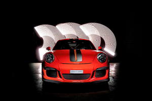 Porsche GT3RS Red Colour 5k