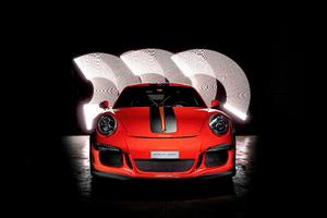 Porsche GT3RS Red Colour 5k Wallpaper