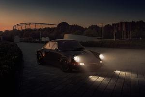 Porsche In Night