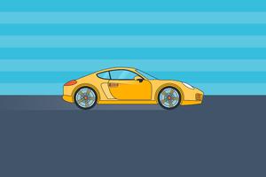 Porsche Minimal 8k Wallpaper