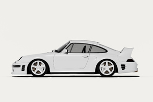 Porsche Minimal White 5k Wallpaper