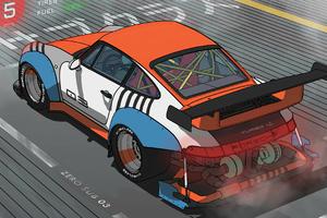 Porsche Raceline 4k Wallpaper