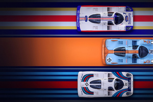 Porsche Racing Digital Art 4k
