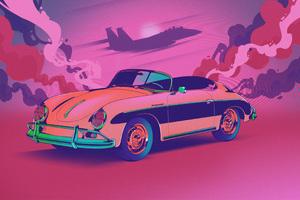 Porsche Retro 4k Wallpaper
