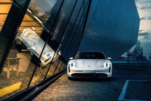 Porsche Taycan 8k Wallpaper