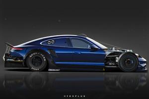Porsche Taycan Concept Art 4k