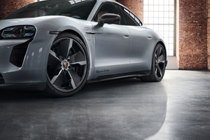 Porsche Taycan Turbo Sportdesign 4k