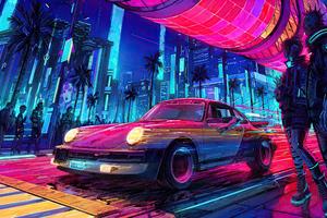 Porsche X Cyberpunk 2077 Wallpaper