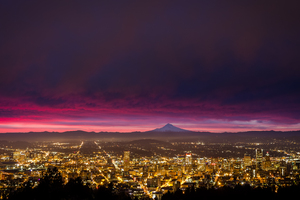 Portland Sunrise Wallpaper