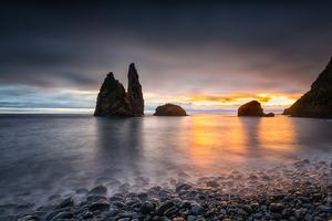 Portugal Sunrises And Sunsets Coast Stones Alagoa 4k