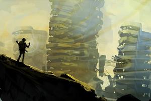 Post Apocalypse Scifi Sketch 5k