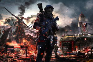 Post Apocalyptic Soldier Artwork Wallpaper