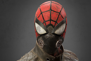 Post Apocalyptic Spider Man Mask 4k