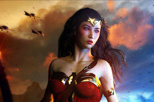 Power Courage Wonder Woman Wallpaper