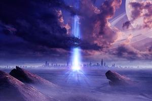 Power Science Fiction Portal 4k Wallpaper