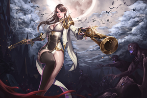 Priest Fantasy Girls 5k Wallpaper
