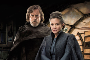 Princess Leia And Luke Skywalker In Star Wars The Last Jedi Movie Wallpaper