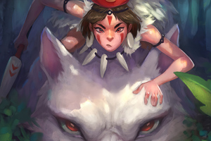 Princess Mononoke Fanart 4k Wallpaper
